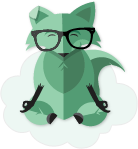 Mint Mobile Fox floating in the clouds