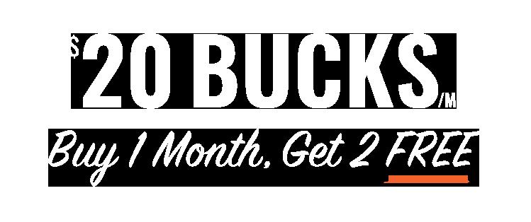 Offer $20 Bucks/Mo