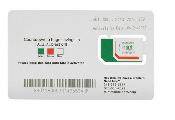 3 MONTH, 8GB PLAN - SIM KIT