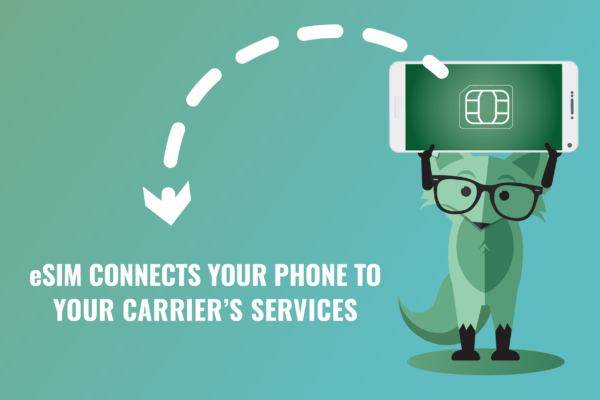 eSIM connects your phone to your carrier's services