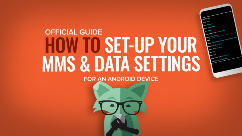 How to set up data settings