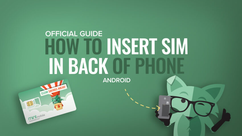How to insert back of phone