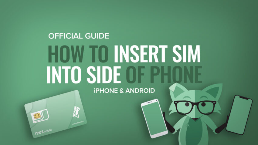 How to insert side of phone